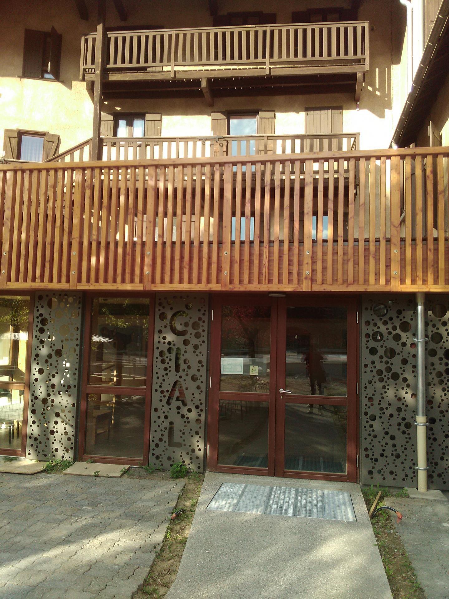 Nouvel accés accueil en cour intérieure